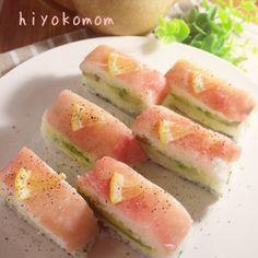 生ハムとアボカドの洋風押し寿司