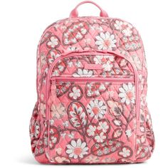 Vera Bradley Campus Backpack in Blush Pink ($109) ❤ liked on Polyvore featuring bags, backpacks, blush pink, vera bradley bags, red cross backpack, padded bag, zipper bag and pink bag