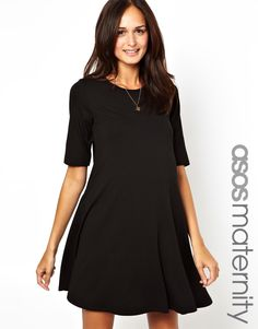 a7908a4816 ASOS Maternity Exclusive Swing Dress With Half Sleeve Asos Maternity