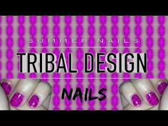 Easy Nail Design | Tribal Nails - http://www.nailtech6.com/easy-nail-design-tribal-nails/