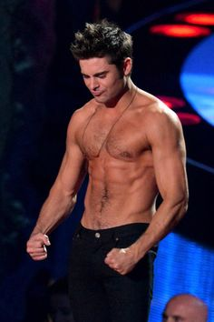 Zac Efron shirtless - thank you Rita Ora
