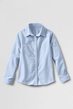 685670949a6 School Uniform Long Sleeve Oxford Shirt from Lands  End School Uniform Dress