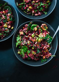 Reset with this healthy superfood salad featuring raw beets, carrot, quinoa, spinach, edamame and avocado.