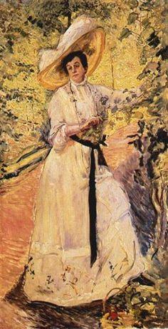 Nini on Trellising, 1911 by Max Slevogt. Impressionism. portrait