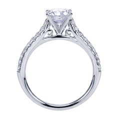 Gabriel - Jennie 14k White Gold Oval Straight Engagement Ring