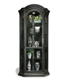 Color Time Panorama Corner Display Cabinet In Black Dining Room Table Sets Bedroom Furniture Curio Cabinets And Solid Wood