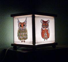 Owl Night Light Lamp Owls Lighting $23.00