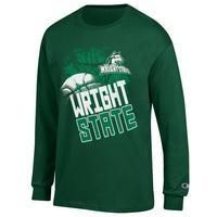 NEW! Champion Wright State Basketball Long Sleeve Jersey Tee  $21.98
