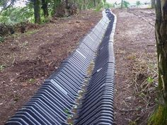 Polyethylene Ditch Liner Is Being Used In Place Of