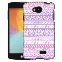 LG Optimus F60 Aztec Andes Purple Tribal on White Slim Case