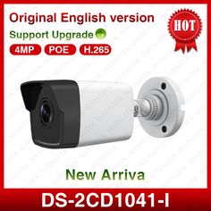 New HIK original DS-2CD1041-I 4.0 MP POE Fixed Bullet Security CCTV IP  Camera  Replace 2045-I  2042-I  #Affiliate