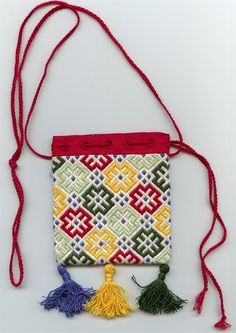 14th Century Westphalian Counted Thread Pouch