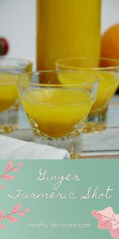 Do you need an energy booster for the upcoming winter season? A ginger tumeric shot strengthens the immune system and besides that ginger has even more health-promoting effects. #gingershot #turmericshot #gingerturmericshot #recipe #beverage #vegan #dairyfree #glutenfree #lowcarb Dairy Free Recipes Healthy, Healthy Low Calorie Meals, Low Calorie Recipes, Healthy Drinks, Vegan Recipes, Snack Recipes, Snacks, Tumeric Shots, Tumeric And Ginger