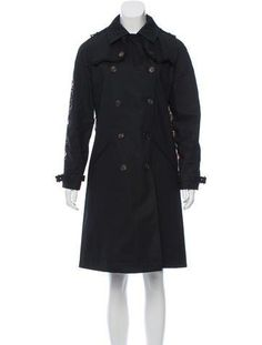 #The RealReal - #Givenchy Givenchy Floral-Trimmed Trench Coat - AdoreWe.com