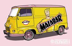 """Les illustrations de christophe: Renault Estafette """"Monsieur Malabar"""""""