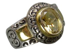 Your fingers will shine in this Brighton sterling silver band ring featuring an ornate scroll design.