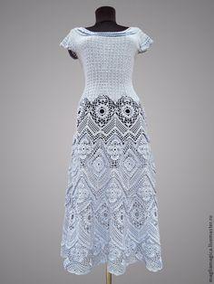 Купить Рожденная морем - голубой, однотонный, платье вязаное, платье коктейльное, Платье нарядное