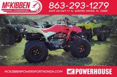 New 2017 Honda TRX250X ATVs For Sale in Florida. 2017 HONDA TRX250X, McKibben Powersport Honda is a family owned and operated dealership in Winter Haven, Florida. We are located at 3699 US HWY 17 N Winter Haven Fl, 33881 between US HWY 92 and Havendale Blvd. We proudly serve Polk county and the surrounding areas, to include Lakeland, Auburndale, Bartow, Kissimmee, Lake Alfred, and Sebring. We are a Honda Powerhouse Dealer and we represent the full line for Honda Powersports, including Honda…