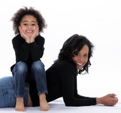 Mother and Daughter in Studio Photo