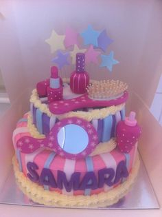 Perfect Pamper Party Cake Food Picture