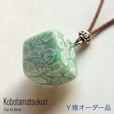 クレイネックレス/瑠璃唐綿(Ruritowata)