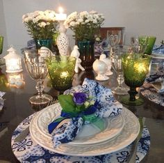 One of my favorites...love Blue and green mix