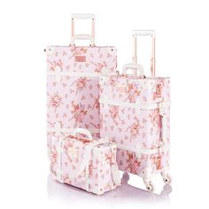 Calpak Luggage, Girls Luggage, Pink Luggage, Cute Luggage, Vintage Luggage, Luggage Sets, Best Suitcases, Inside My Bag, Suitcase Set