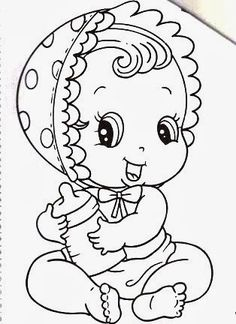 desenho-de-bebe-menina-para-pintar.jpg (314×432)