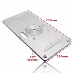 Ujk technology 6mm aluminium router table insert plate router 235mm x 120mm x 8mm aluminum router table insert plate for woodworking keyboard keysfo Images