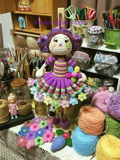 Knitted Dolls, Crochet Dolls, Amigurumi Doll, Doll Patterns, Aurora, Free Pattern, Country, Knitting, Doll