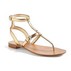 Prada Gladiator Sandal Gold 6US / 36EU $587.25