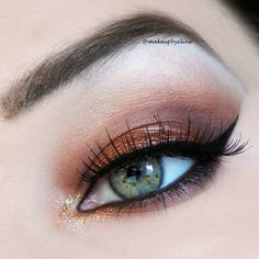 bronze and gold glitter makeup