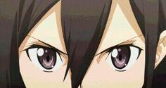 *Staring contest, so bored :P*