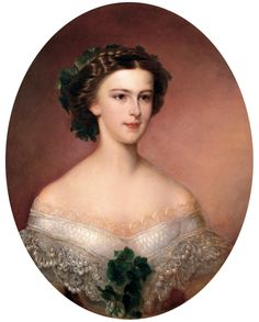 Eliabeth of Bavaria, later Empress Elisabeth. She would marry Emperor Franz Joseph and become Empress of Austria as well as Queen of Hungary. She was know throughout Europe as one of the most beautiful monarchs and her obessive beauty habits inspired cult-like followings in later years.  http://www.hofburg-wien.at/en/wissenswertes/sisi-museum/rundgang-durch-das-sisi-museum/das-maedchen.html