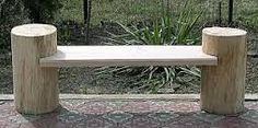 Картинки по запросу скамейка из бревна