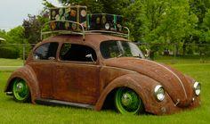 Rust and Neon Green Hoodride