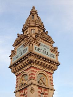 Tower of main facilities of champaign producer De Castellane in Èpernay - Champagne, France Champagne France, Champagne Region, France Travel, Big Ben, Places Ive Been, Health Care, French Food, Paris, Road Trips