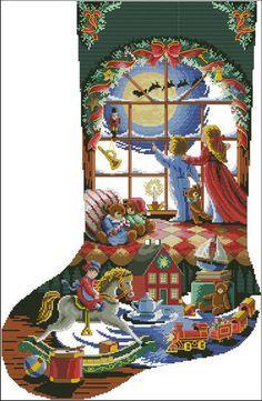 free cross stitch christmas stocking patterns - Google Search