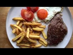 Early supper as I have to be up by for my shift in the warehouse- Rump and chips paired with a stonking red from Steak And Chips, Waffles, Beef, Make It Yourself, Breakfast, Food, Meat, Morning Coffee, Essen