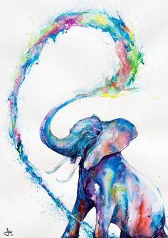 Marc Allante - ink and watercolor                                                                                                                                                                                 More