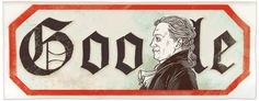 Johann Wolfgang von Goethe's 262nd Birthday [262 года со дня рождения Иоганна Вольфганга фон Гете] /This doodle was shown: 28.08.2011 /Countries, in which doodle was shown: Austria, Germany, Switzerland
