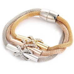 10dab36d261 Bracelet fashion jewelry gold silver rose gold 3 color sets 8 word buckle  cross magnet female