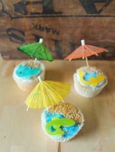 Gluten free, limeade cupcakes for Shark week!