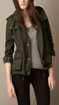 Dark Green Parka by Burberry. Buy for $750 from Burberry
