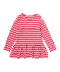 Another great find on #zulily! Pink Stripe Drop-Waist Tunic - Toddler & Girls #zulilyfinds