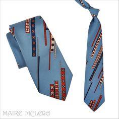 "1970's Tie // Vintage 70s Men's Abstract Design Tie - Beau Brummel  4"" found on Ruby Lane"