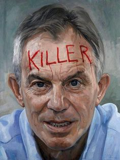 """There's Now A Tony Blair Portrait At The National Gallery It's pretty """"in your face. Tony Blair, Commonwealth, Jonathan Yeo, Royal Society, Political Art, Galleries In London, National Portrait Gallery, American Art, Art Museum"""