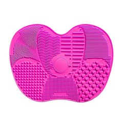SILICONE BRUSH CLEANER PAD.Available in pink and purple, this brush cleaner pad is made from high-quality silicone that is gentle with your make-up brushes, yet cleans them well. pick your favourite. Now available online!#makeup