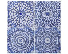 Wall hanging with Moroccan decor, Moroccan tile, blue and white tile for outdoor wall art or for bathroom tile, Moroccan wall art Moroccan Wall Art, Moroccan Design, Moroccan Tiles, Moroccan Decor, Outside Wall Art, Outdoor Wall Art, Outdoor Walls, Ceramic Wall Art, Tile Art