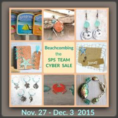 SPS Team Cyber Week Sale - 11/27 - Dec. 3 - Use coupon code CYBER15  Featured in this beachy collage:  ZcrochetZ, Catching Waves, chez violette, Carola Bartz, PrettyByrd Designs, Lady Ly's Boutique, Ceraminic, and Meyer Clark Creative.  #SPSTeam